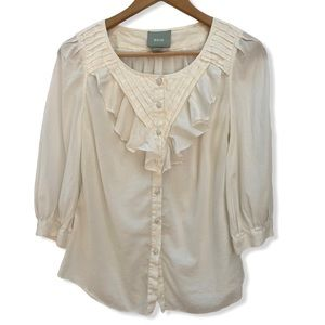 Maeve by Anthropologie Button Down Blouse Size 2